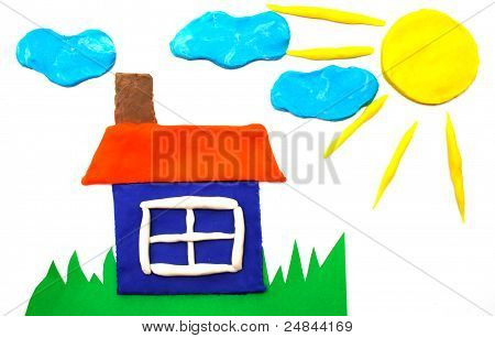 Sunny Weather  Picture Maded By Plasticine