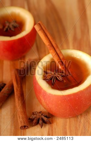 Apple Cider With Cinammon And Star Anise