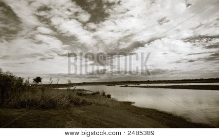 Landscape With Cloudy Skies