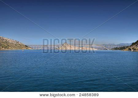 Island Of Krk Bridge Over Sea