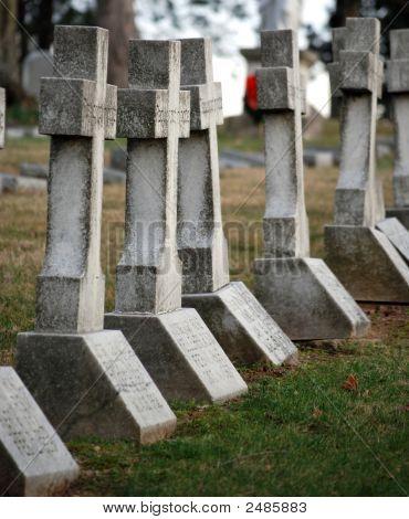 Row Of Crosses