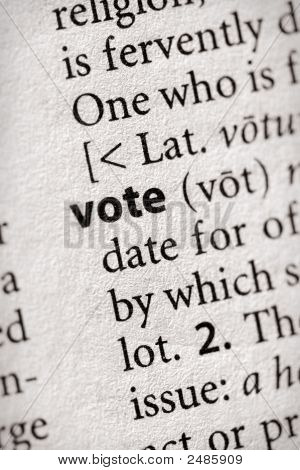 Dictionary Series - Politics: Vote