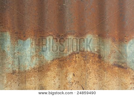 Rusty On Zinc Metal Plate Texture