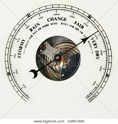 Barometer Dial Very Dry