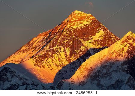 Evening Sunset View Of Mount