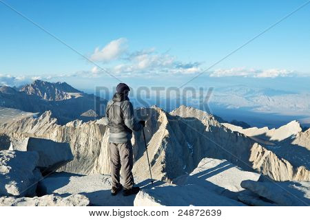 The climb on Whitney mount,California