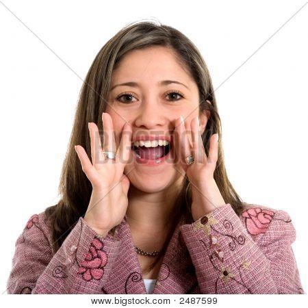 Beautiful Girl Shouting Out Loud