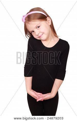 shy little pretty girl