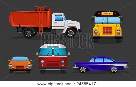 Vector Set Of Cartoon Cars