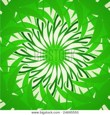 Organic green kaleidoscope background