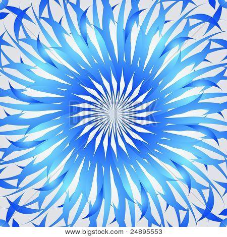 Organic blue kaleidoscope background
