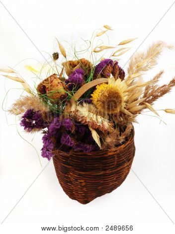 Dry Fowers In The Basket