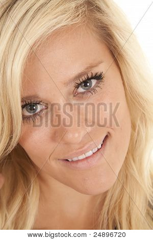 Blond Woman Head Smile