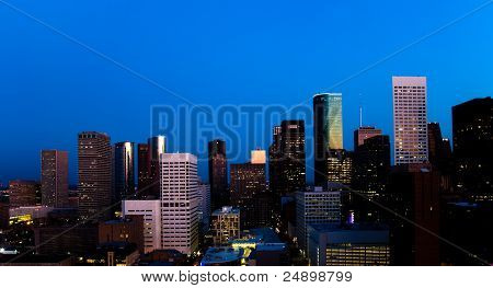 Downtown Houston Skyline at dawn