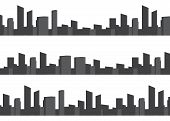 City Vector Panorama. Cityscape Architecture Background. Urban Set Panorama Cities poster