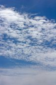 The Sky With Beautiful Clouds. poster