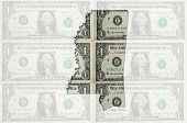Outline Map Of Mississippi With Transparent American Dollar Banknotes In Background