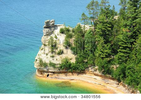 Miners Castle At Pictured Rocks