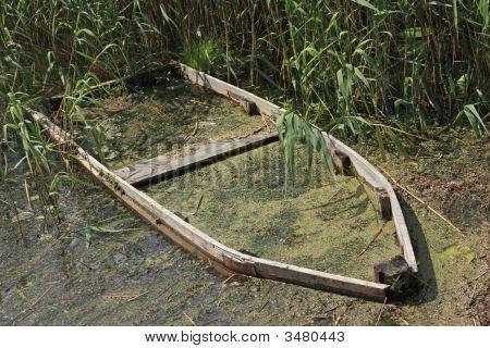 Old Half-Sunken Boat