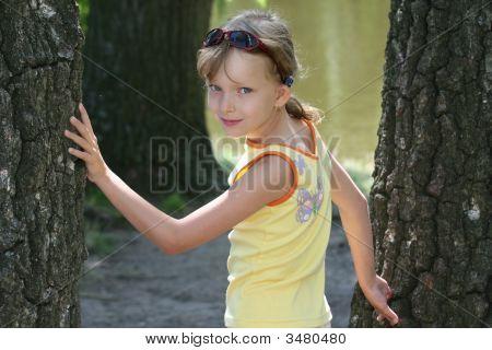Small Beauty Girl Posing
