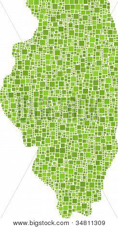 Illinois map - USA -