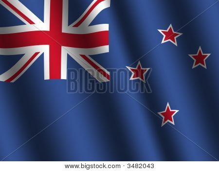 Rippled New Zealand Flag