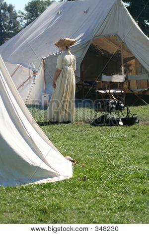 Woman At Camp