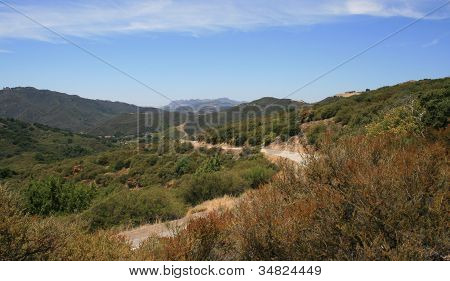 Latigo Canyon Road Panorama