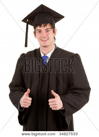 Graduate With A Double Thumbs Up