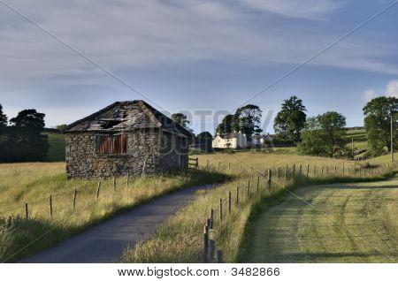 Small Rural Barn & Farmhouse