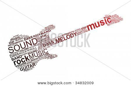 Typographic design - rock music concept