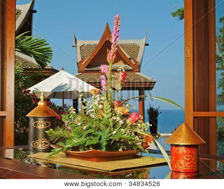 Corner with flowers