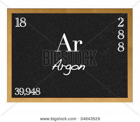 Argon, Ar.