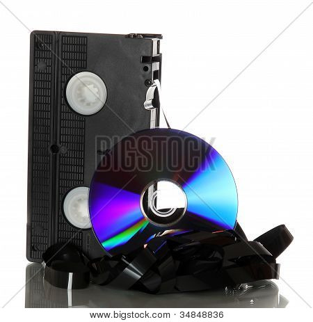 Damaged Videotape With Dvd