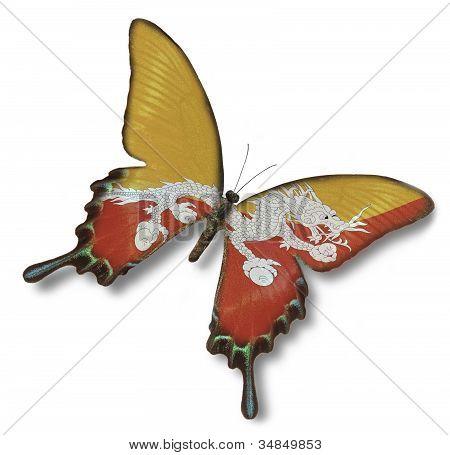 Butane Flag On Butterfly