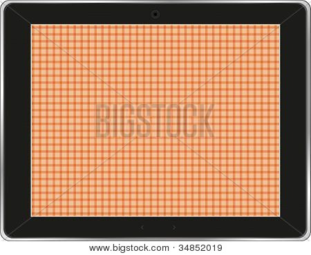 Tablet Pc Display With Abstract Background