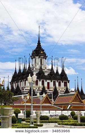 Loha Prasat Metal Palace In Bangkok