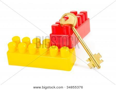 Key In Plastic Toy Blocks