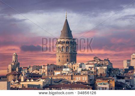 Torre de Gálata em Istambul na Turquia