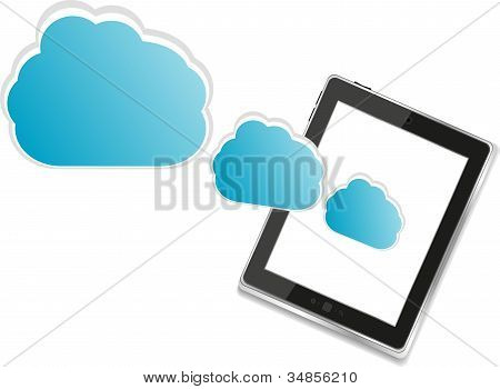 Cloud-computing Connection On The Digital Tablet Pc ipad