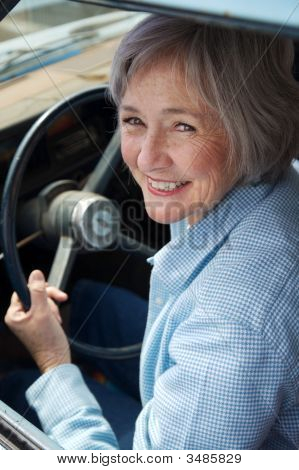 Senior Behind The Wheel