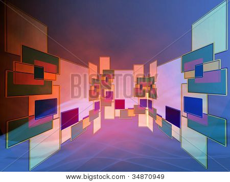 Abstract Design Of Grouping Of Sizes And Shapes Of Wall Boards