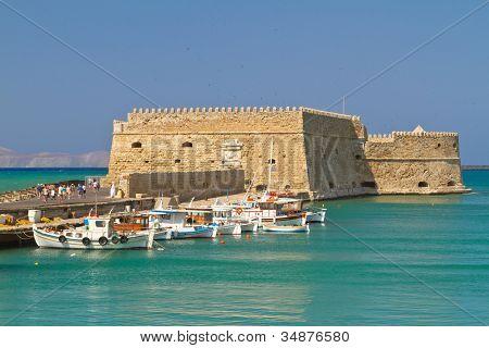Venetian fortress Koules in Heraklion, Crete