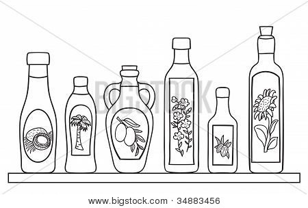 Set Of Natural Oils