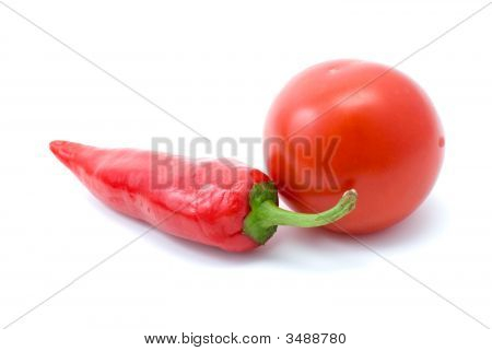Red Tomatoe And Hot Pepper
