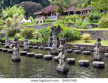 Bali Indonesia Imperial swimming baths (Taman Tirta Gangga)