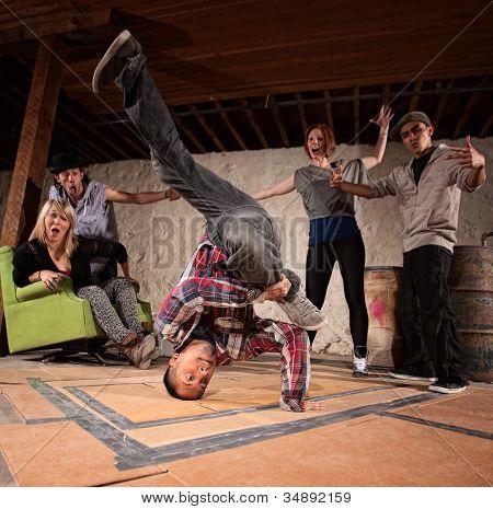 Break Dancing Headspin