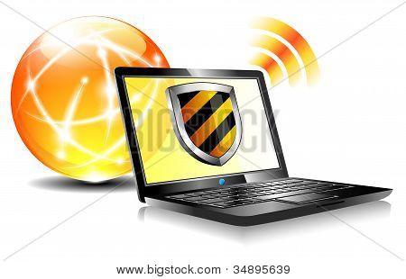 Shield  Internet Protection Antivirus Laptop