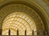 image of amtrak  - Interior Archways at Union Station in Washington DC - JPG