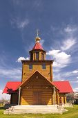 foto of dnepropetrovsk  - The new wooden church in the village Petrikovka near Dnepropetrovsk - JPG
